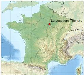 La situation de La Louptière-Thénard en France